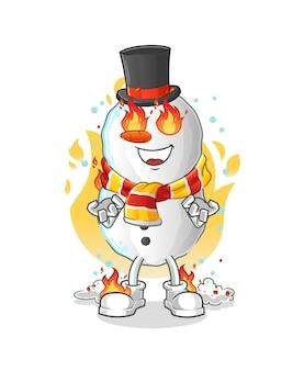 Bulgogi sur la mascotte de dessin animé de feu