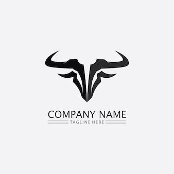 Bull buffalo head vache animal mascotte logo design vecteur pour sport corne buffalo animal mammifères tête logo sauvage matador