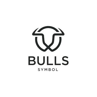 Bull buffalo vache taurus head logo design