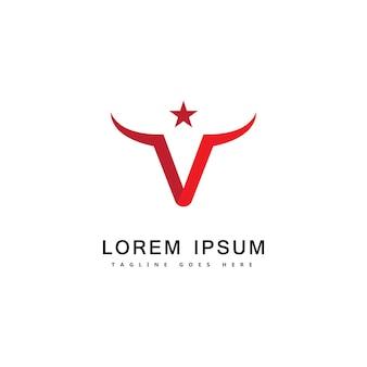Bull logo template vecteur icône illustration