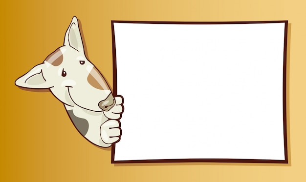 Bull terrier chien et carte