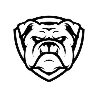 Bulldog animal sport mascot head logo vector
