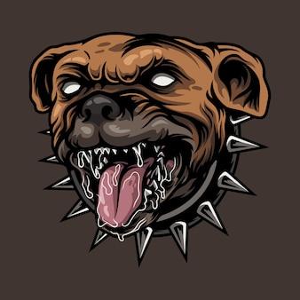 Bulldog en colère