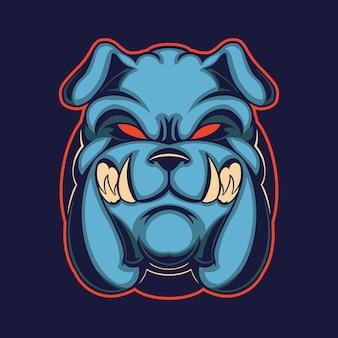 Bulldog isolé