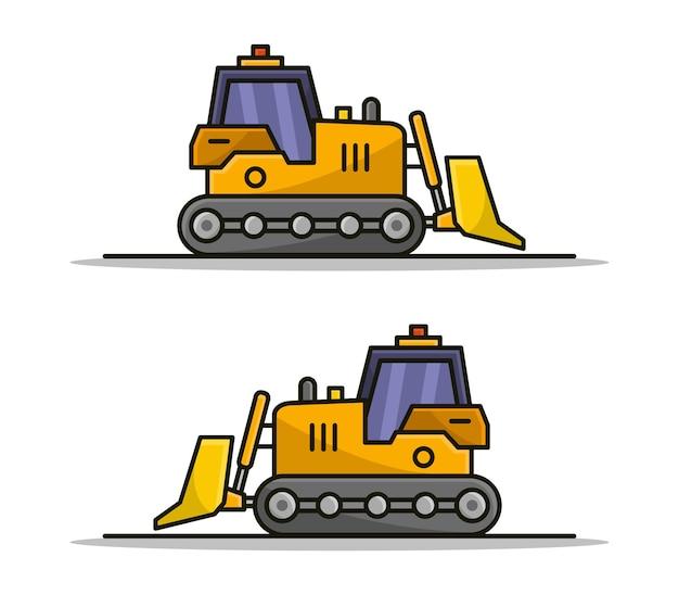 Bulldozer de dessin animé