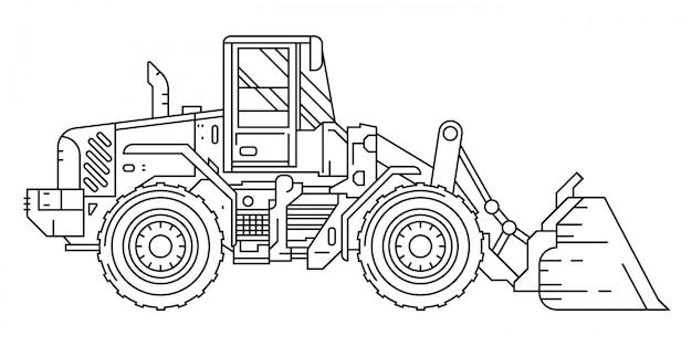 Bulldozer flat line design