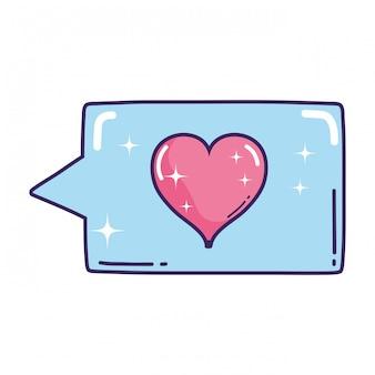 Bulle de dialogue avec coeur amour