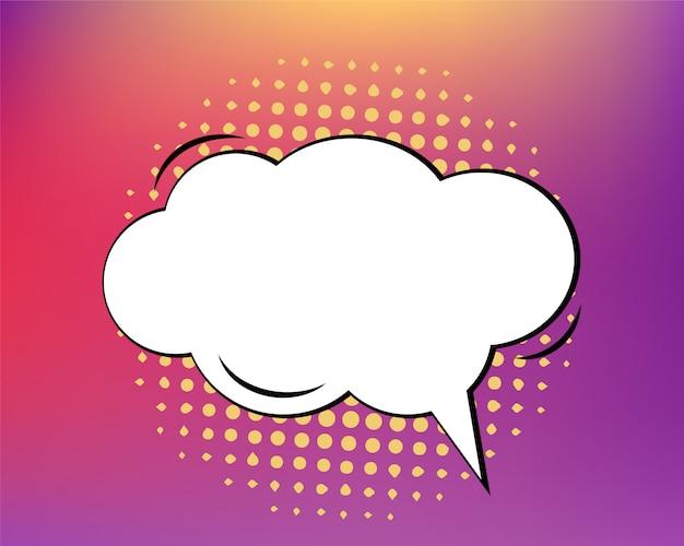 Bulle de dialogue comique