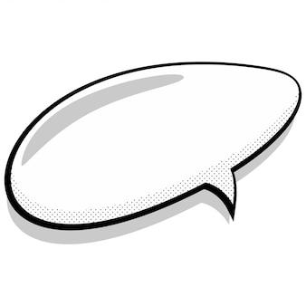 Bulle de dialogue comique.