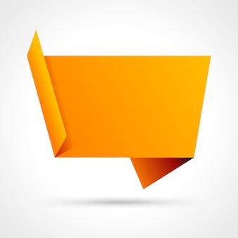 Bulle de dialogue origami abstraite plient fond de vecteur de papier