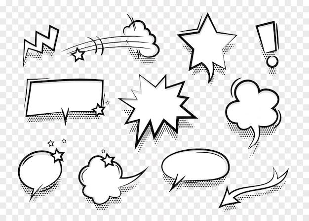 Bulle de dialogue pour fond transparent de texte comique
