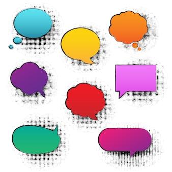 Bulle de dialogue rétro