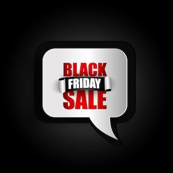 Bulle de dialogue texte noir vendredi