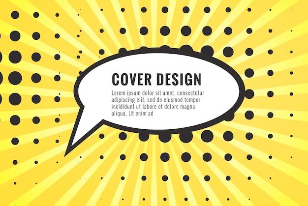 Bulle de dialogue vide comique rétro sur fond coloré style pop art design vintage