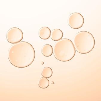 Bulle d'huile abstraite macro shot vecteur liquide transparent