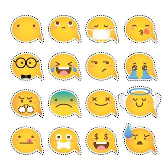 Bulle de mot jaune emoji