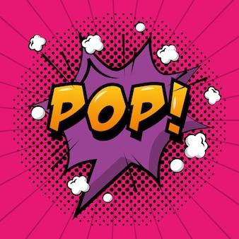 Bulle pop art bulle pop style vintage
