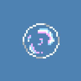 Bulle unique avec style pixel art