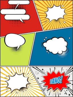 Bulles de bande dessinée. éléments de design rétro