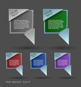 Bulles colorées, conception d'élément web