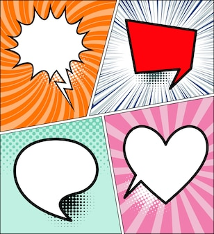 Bulles de dialogue comique - vector illustration.com.com bulles de dialogue style livre sur colorf
