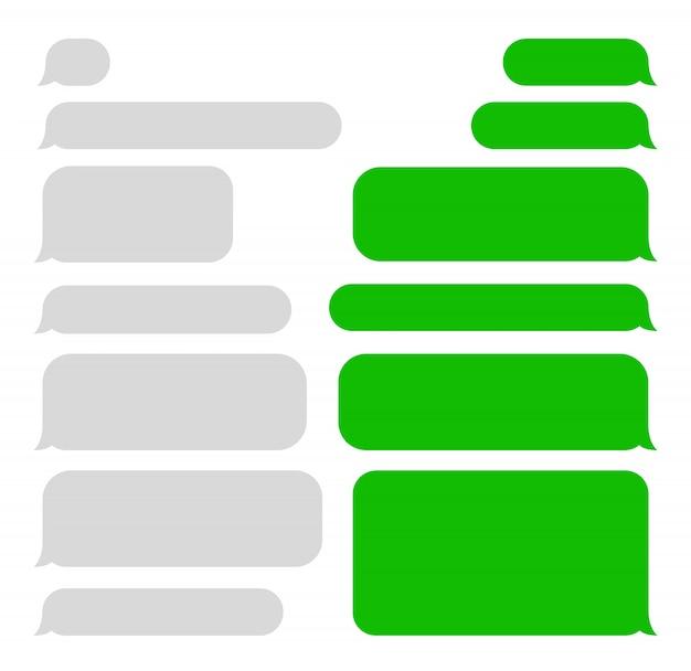 Bulles de messages courts. sms. bulles.
