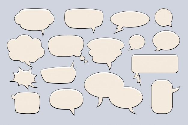 Bulles de texte. ensemble de bulles pour les mots.