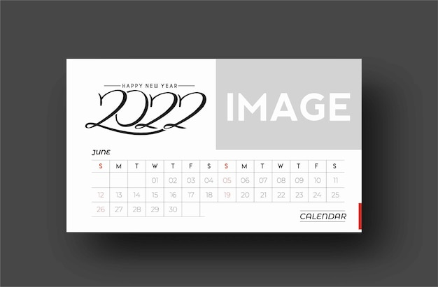 Bundel of happy new year 2022 calendar - éléments de conception de vacances de nouvel an pour les cartes de vacances, affiche de bannière de calendrier pour les décorations, fond d'illustration vectorielle.