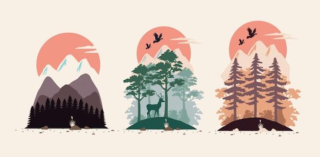Bundle de beaux paysages mis en scènes
