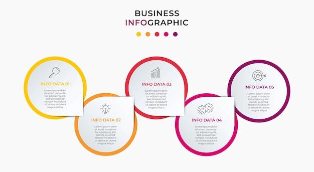 Bundle business infographics serti de graphique d'informations de diagramme de flux de processus