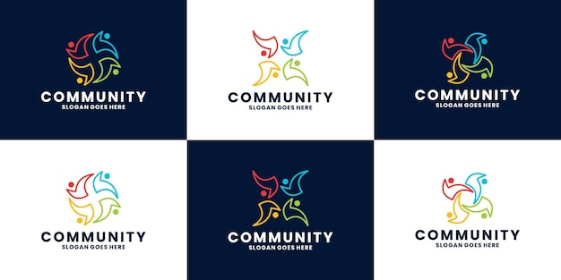 Bundle création de logo de communauté abstraite