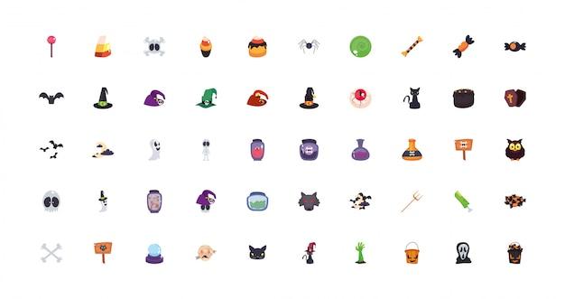Bundle halloween avec icônes définies