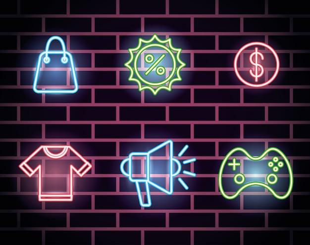 Bundle d'icônes de néons