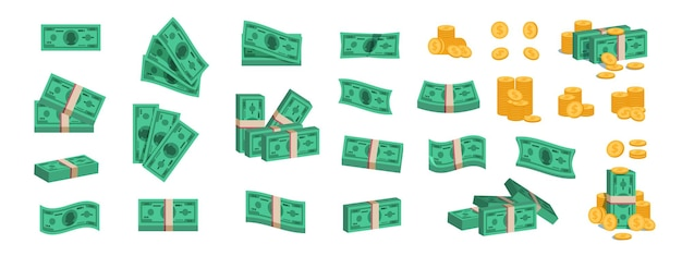 Bundle of money illustration