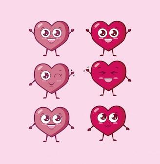 Bundle de personnages de coeurs de la saint-valentin