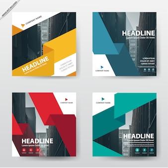 Bundle set de conception modèle brochure flyer moderne