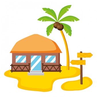 Bungalow de vacances d'été