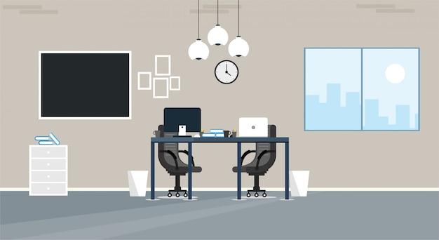 Bureau d'apprentissage et d'enseignement pour travailler à l'aide d'une illustration vectorielle de programme de conception