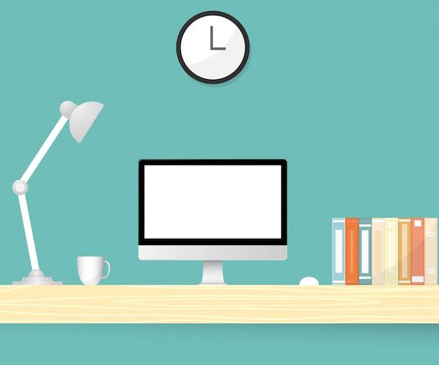Bureau de bureau. illustration