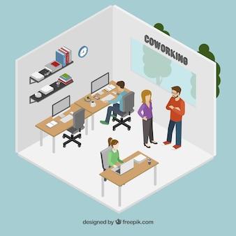 Bureau de coworking
