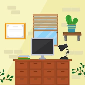 Bureau à domicile de bureau et lampe de bureau