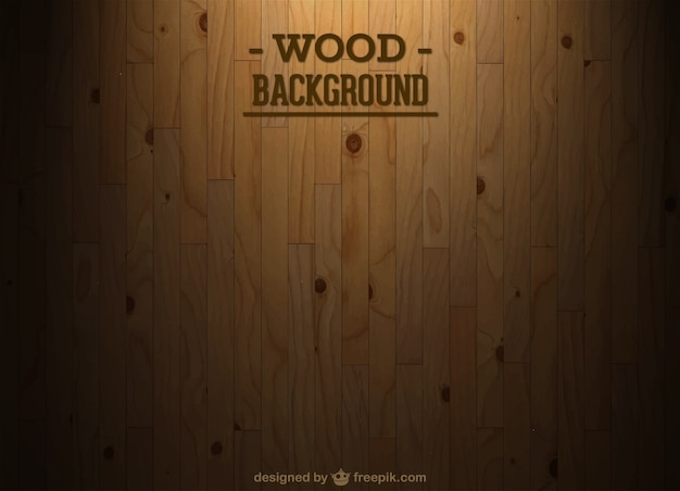 Bureau de fond en bois