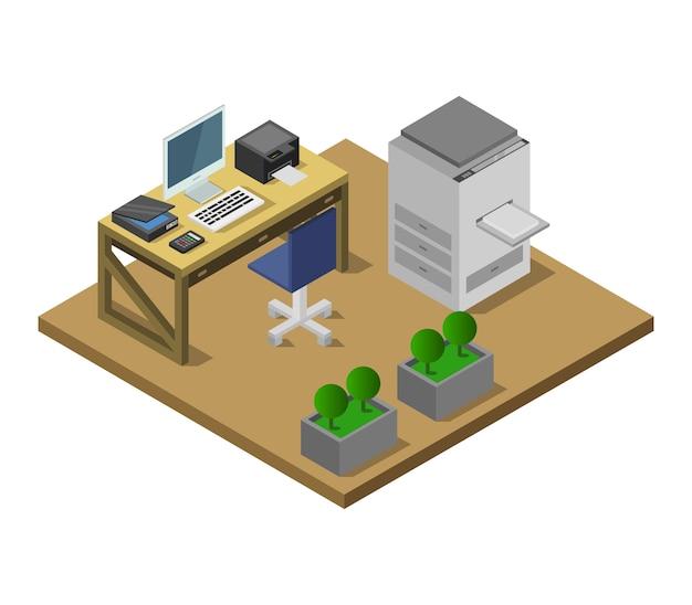 Bureau isométrique