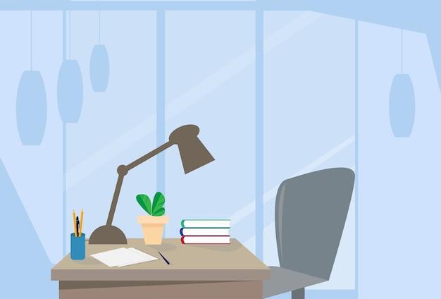 Bureau moderne bureau intérieur chaise vide bureau