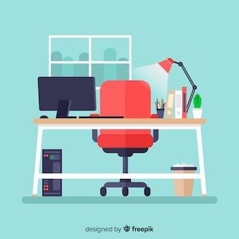 Bureau moderne avec design plat