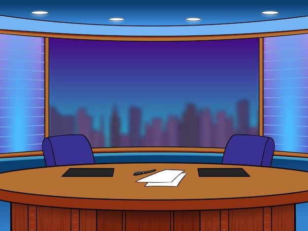 Bureau de nouvelles tv