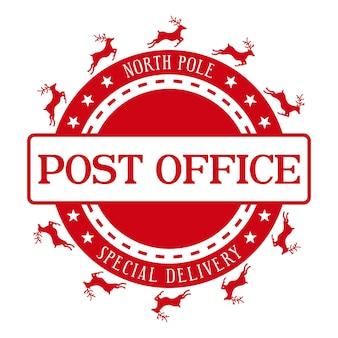 Bureau de poste du pôle nord conception de sceau de vacances élément de design décoratif de noël pour cadeaux faits à la main