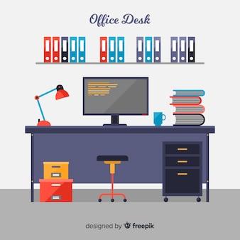 Bureau professionnel avec design plat