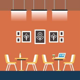 Bureaux pour une heure cartoon illustration de coworking