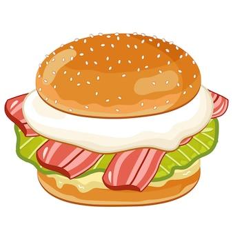 Burger sur blanc
